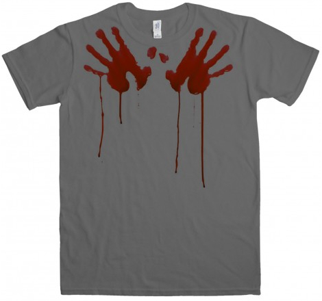 bloody handprints t-shirt